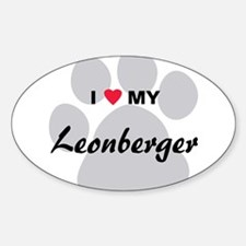 I Love My Leonberger Decal