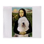 Mona's Old English Sheepdog Throw Blanket