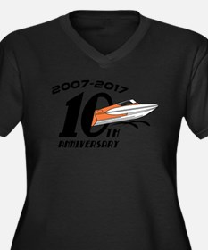 CGOAMN 10th Anniversary Simple Plus Size T-Shirt