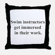 swimming joke Throw Pillow