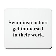 swimming joke Mousepad