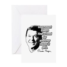 Reagan Quote Government Spending Greeting Card