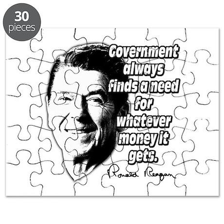 Reagan Quote Government Spending Puzzle