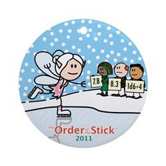 2011 Order Of The Stick Holiday Round Ornament