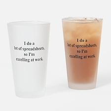 spreadsheet joke Drinking Glass