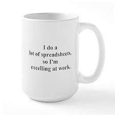 spreadsheet joke Ceramic Mugs