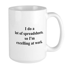 spreadsheet joke Mug