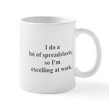 spreadsheet joke Small Mugs