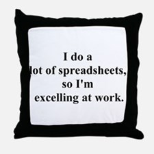 spreadsheet joke Throw Pillow