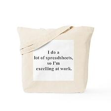 spreadsheet joke Tote Bag