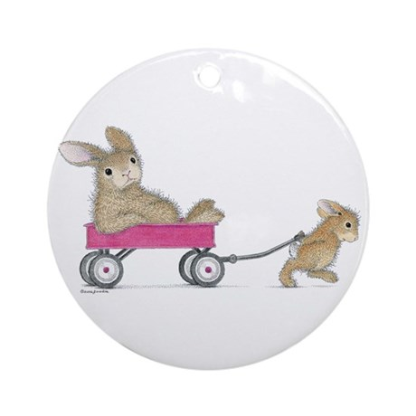 HappyHoppers® - Bunny - Ornament (Round)