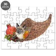 Cat in Cornucopia Puzzle