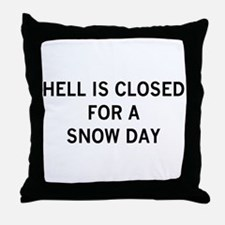 hell is closed Throw Pillow