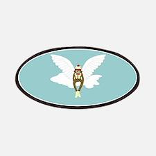 Sock Monkey Guardian Angel Patch