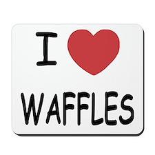 I heart waffles Mousepad