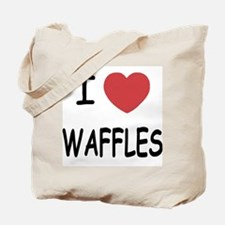 I heart waffles Tote Bag