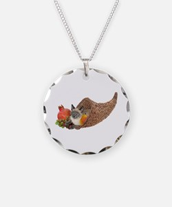 Cat in Cornucopia Necklace