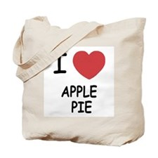 I heart apple pie Tote Bag