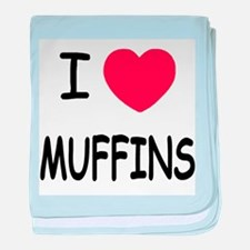 I heart muffins baby blanket