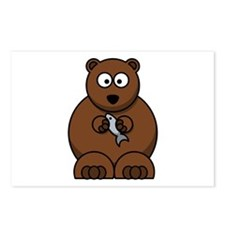 Cartoon Bear Postcards (Package of 8)