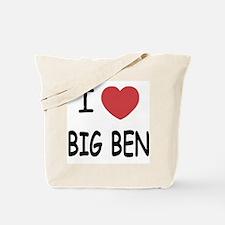 I heart big ben Tote Bag
