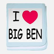 I heart big ben baby blanket