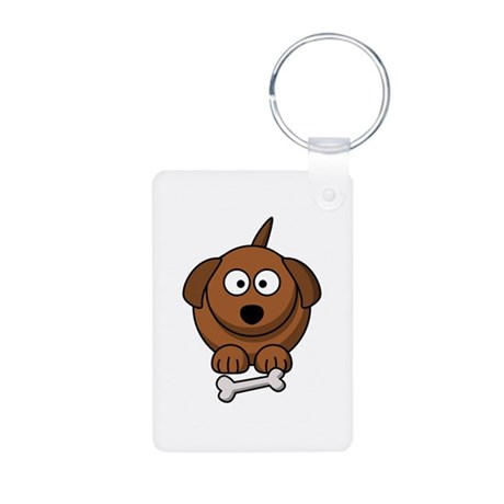Cartoon Dog Aluminum Photo Keychain