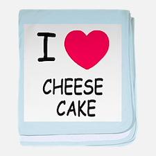 I heart cheesecake baby blanket