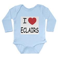 I heart eclairs Long Sleeve Infant Bodysuit