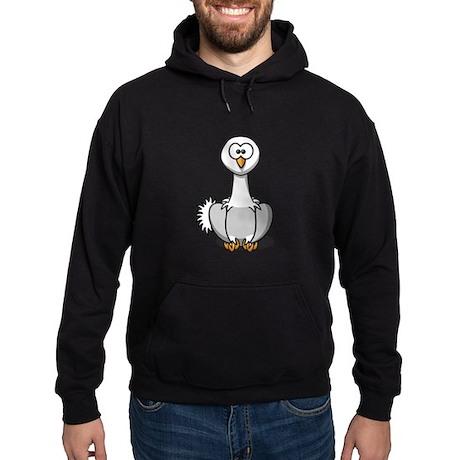 Cartoon Ostrich Hoodie (dark)