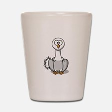 Cartoon Ostrich Shot Glass
