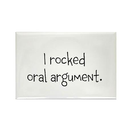 I rocked oral argument. Rectangle Magnet (100 pack