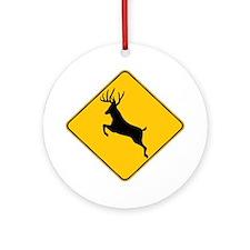 Deer crossing Ornament (Round)