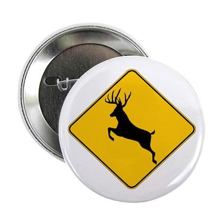 """Deer crossing 2.25"""" Button"""