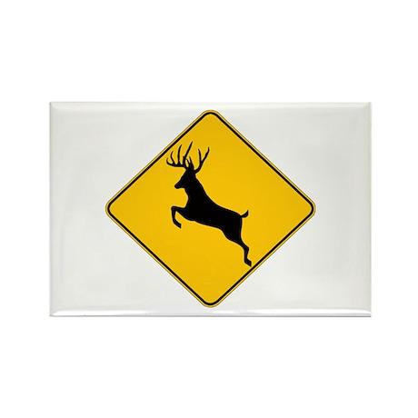 Deer crossing Rectangle Magnet