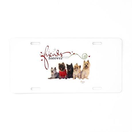Cairn Terrier Friends Aluminum License Plate