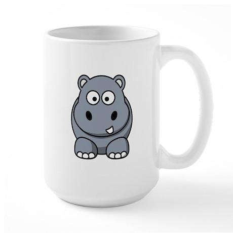 Cartoon Hippopotamus Large Mug