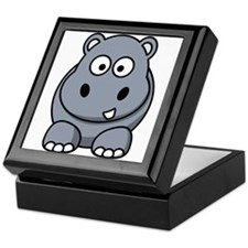 Cartoon Hippopotamus Keepsake Box