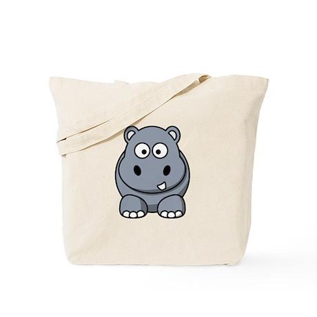 Cartoon Hippopotamus Tote Bag