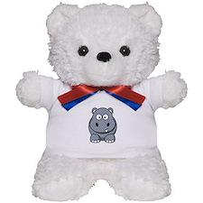 Cartoon Hippopotamus Teddy Bear