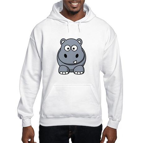 Cartoon Hippopotamus Hooded Sweatshirt