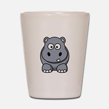 Cartoon Hippopotamus Shot Glass