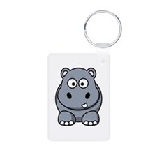 Cartoon Hippopotamus Keychains
