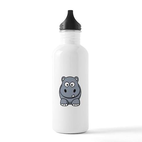 Cartoon Hippopotamus Stainless Water Bottle 1.0L