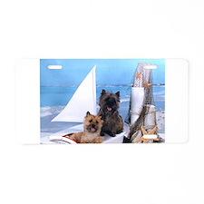Cairn Terrier Boat Boys Aluminum License Plate