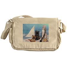 Cairn Terrier Boat Boys Messenger Bag