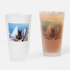 Cairn Terrier Boat Boys Drinking Glass