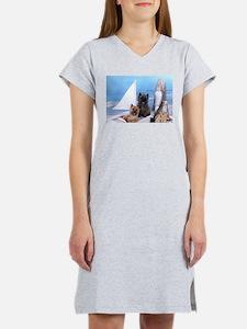 Cairn Terrier Boat Boys Women's Nightshirt