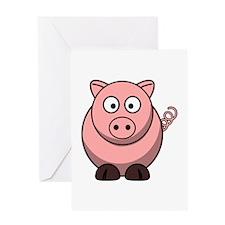 Cartoon Pig Greeting Card