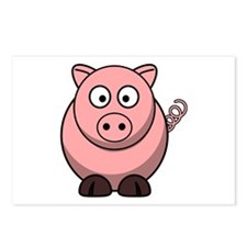 Cartoon Pig Postcards (Package of 8)